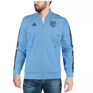 💯New York City FC Anthem Jacket Official Adidas